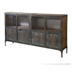 Buy Stein World Irene Large Console Cabinet w/ 4 Doors in Brown on sale online