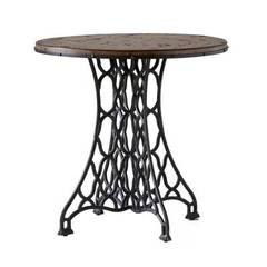 Buy Stein World Jane Rae 28 Inch Round Wood and Metal End Table on sale online
