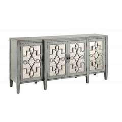 Buy Stein World Lawrence Credenza w/ 4 Doors in Slate Grey on sale online