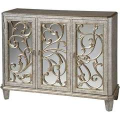 Buy Stein World Leslie Mirrored Cabinet in Antique Silver on sale online
