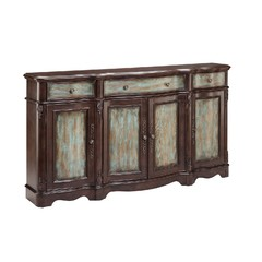 Buy Stein World Lyle 4 Door Sideboard in Brown and Blue on sale online