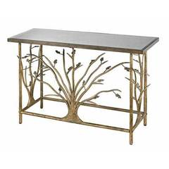 Buy Sterling Industries 47x16 Rectangular Console Table w/ Antique Mirrored Top on sale online