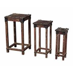 Buy Sterling Industries 8x8 Square Stacking Tables in Distressed Finish (Set of 3) on sale online