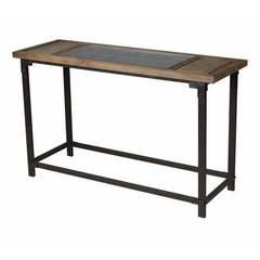 Buy Sterling Industries Abruzzo 52x18 Rectangular Hall Table in Black and Natural on sale online