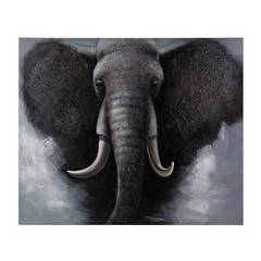 Buy Sterling Industries African Elephant 48x40 Oversized Oil on Canvas in Grey and Black on sale online