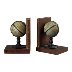 Buy Sterling Industries Atlas Bookends in Brown, Black and Grey (Set of 2) on sale online