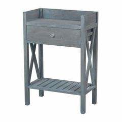 Buy Sterling Industries Biscayne Beachcomber Blue 24x13 Rectangular Side Table on sale online