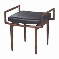 Buy Sterling Industries Blackinton Mid-Century 23x19 Ottoman in Dark Cherry on sale online