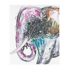 Buy Sterling Industries Bold Elephant 47x39 Oversized Oil on Canvas in Multicolor on sale online