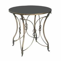 Buy Sterling Industries Bordeaux 24x24 Round Side Table in Antique Bronze and Black on sale online