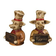 Buy Sterling Industries Chef Pig Bookends in Yellow, Red and Brown (Set of 2) on sale online