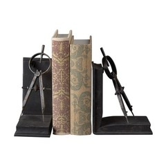 Buy Sterling Industries Compass Bookends in Rusted Black (Set of 2) on sale online