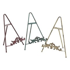 Buy Sterling Industries Iron Book Stands in Blue, Cream and Red (Set of 3) on sale online
