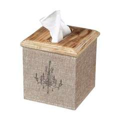 Buy Sterling Industries Linen Covered Tissue Box in Light Wood on sale online