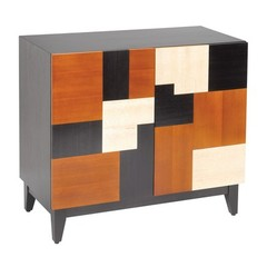 Buy Sterling Industries Malaysia Mozaic Cabinet in Cherry, Walnut and Black on sale online