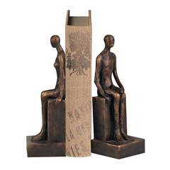 Buy Sterling Industries Male and Female Form Bookends in Black and Bronze (Set of 2) on sale online