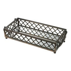 Buy Sterling Industries Metal Frame Contemporary Mirrored Tray in Bronze on sale online