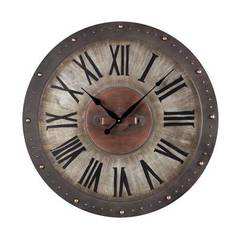 Buy Sterling Industries Outdoor 31 Inch Round Wall Clock in Bronze, Gold and Brown on sale online