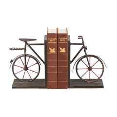 Buy Sterling Industries Pair Bicycle Bookends in Antique Black and Red (Set of 2) on sale online