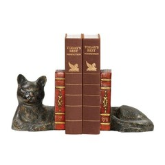 Buy Sterling Industries Pair Cat Napping Bookends in Black, Bronze, Red (Set of 2) on sale online