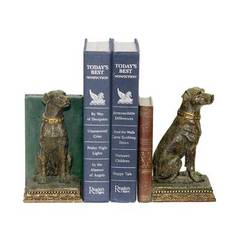 Buy Sterling Industries Pair Chocolate Lab Bookends in Bronze and Green (Set of 2) on sale online