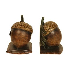 Buy Sterling Industries Pair Muir Woods Acorn Bookends in Brown and Gold (Set of 2) on sale online