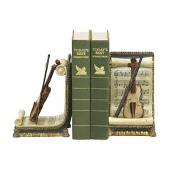 Buy Sterling Industries Pair of Violin and Music Traditional Bookends (Set of 2) on sale online