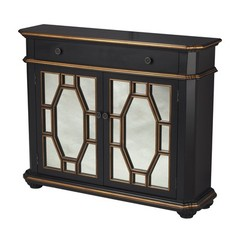 Buy Sterling Industries Presidio Cabinet w/ 1 Drawer in Black and Gold on sale online