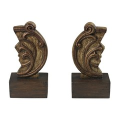 Buy Sterling Industries Reclaimed Artifact Bookends in Antique Brown, Gold (Set of 2) on sale online