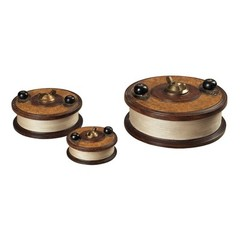 Buy Sterling Industries Reproduction Fishing Reels Decorative Boxes (Set of 3) on sale online