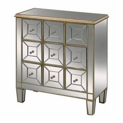 Buy Sterling Industries Roma Mirrored Chest w/ 9 Drawers in Gold on sale online