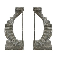 Buy Sterling Industries Stairwell Bookends in Antique Grey (Set of 2) on sale online