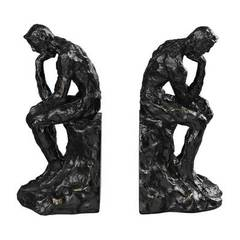 Buy Sterling Industries Thinking Man Transitional Bookends in Black (Set of 2) on sale online