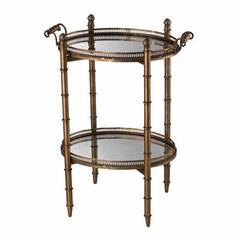 Buy Sterling Industries Tyrella Gold 23x16 Oval Tray Table in Antique Gold on sale online