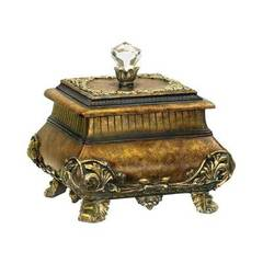 Buy Sterling Industries Wilton Keepsake Decorative Box in Brown and Gold on sale online