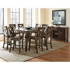 Buy Steve Silver Crosspointe 10 Piece Square 60x60 Counter Height Set on sale online