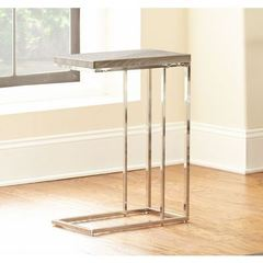 Buy Steve Silver 18x10 Rectangular Lucia Chairside End Table in Grey and Brown on sale online