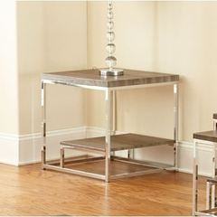 Buy Steve Silver 24x24 Square Lucia End Table in Grey and Brown on sale online