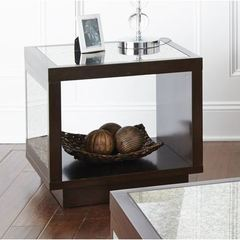 Buy Steve Silver 24x22 Rectangular Aileen End Table in Brown and Grey on sale online