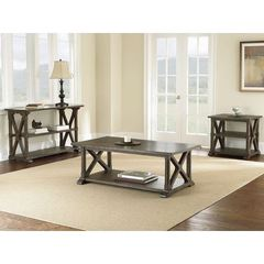 Buy Steve Silver 3 Piece 50x28 Rectangular Southfield Occasional Table Set on sale online
