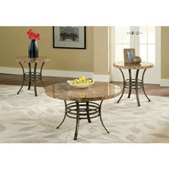 Buy Steve Silver 3 Piece Collison Occasional Table Set in Brown on sale online
