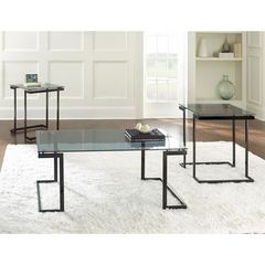 Buy Steve Silver 3 Piece Dominic Occasional Table Set in Black on sale online