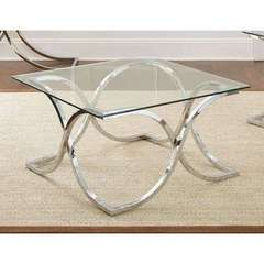 Buy Steve Silver 36 Inch Square Leonardo Cocktail Table w/ Glass Top on sale online
