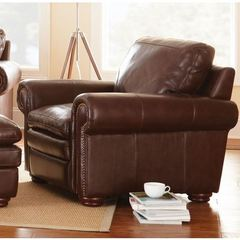 Buy Steve Silver 38 Inch Yosemite Chair in Chestnut Leather on sale online