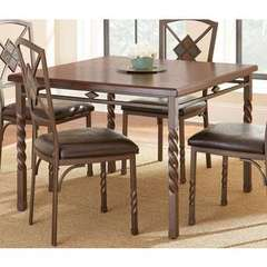 Buy Steve Silver 42x42 Square Annabella Dining Table in Brown on sale online