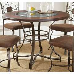 Buy Steve Silver 45x45 Round Toledo Dining Table in Cherry on sale online