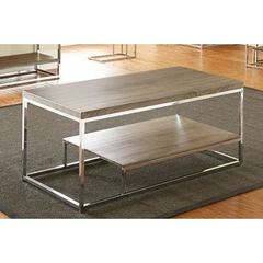 Buy Steve Silver 47x24 Rectangular Lucia Cocktail Table in Grey and Brown on sale online