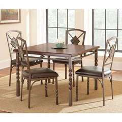 Buy Steve Silver 5 Piece 42x42 Square Annabella Dining Room Set on sale online