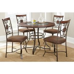 Buy Steve Silver 5 Piece 45x45 Round Toledo Dining Room Set in Cherry on sale online