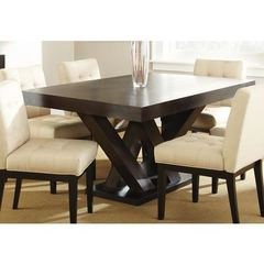 Buy Steve Silver 64x40 Rectangular Tiffany Dining Table in Espresso on sale online